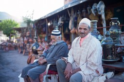 Pottery sellers on the Ourika Road
