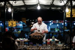 Snails seller on Jemaa el-Fna square