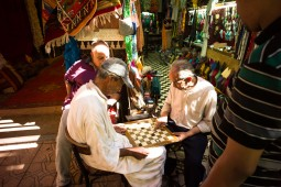 a chess game in the zouk
