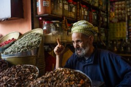 Spice seller, Zouk, Medina of Marrakech, Morocco