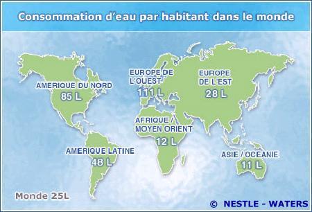 Revue du commerce international la bataille de l 39 eau en - Combien coute 1 litre d eau du robinet ...
